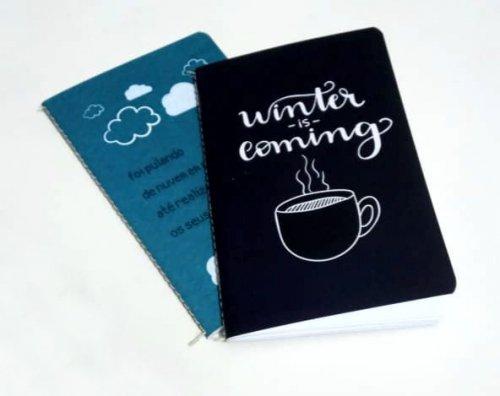 Caderninho de anotações personalizado - Kit com 20 unidades.
