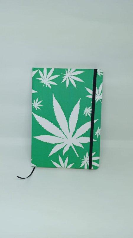 Nordeskine pontilhado tamanho A5 - Estampa Cannabis