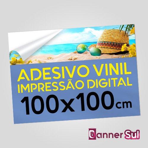 Adesivo Vinil Impressão Digital 100x100cm