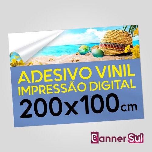 Adesivo Vinil Impressão Digital 200x100cm