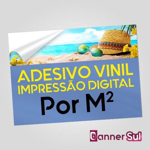 Adesivo Vinil Impressão Digital Por M2