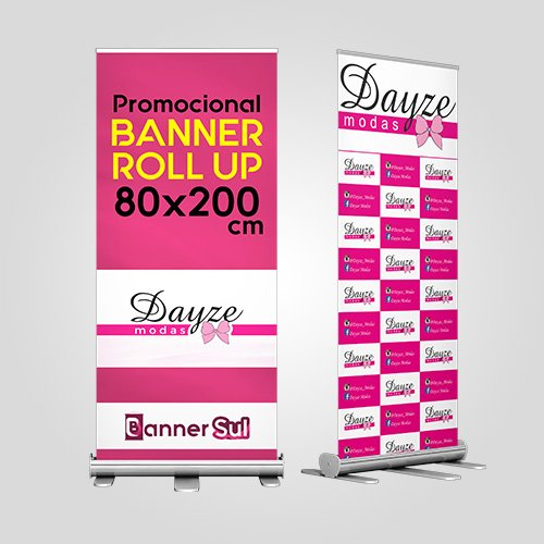 Banner Impresso Roll Up 80x200cm