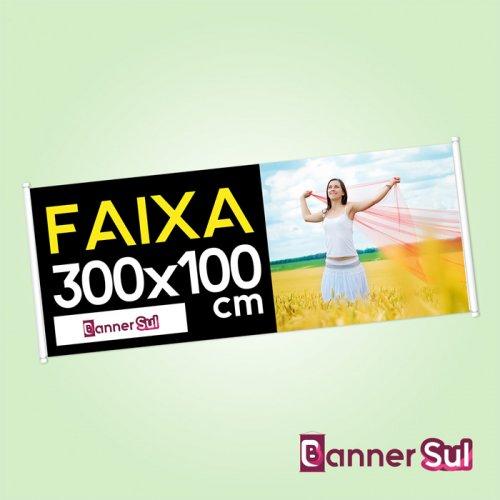 Faixa Impressa 300x100cm