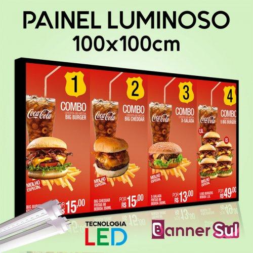 Painel Luminoso Tecnologia LED - 100x100cm