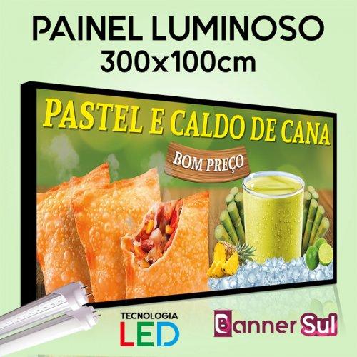 Painel Luminoso Tecnologia LED - 300x100cm