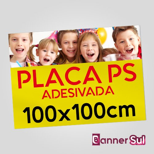 Placa Ps Adesivada 100x100cm