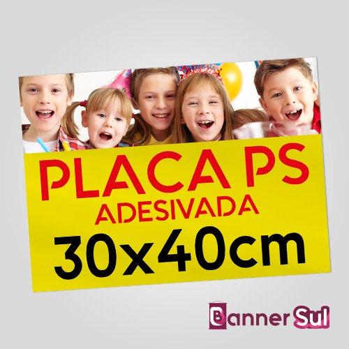 Placa Ps Adesivada 30x40cm