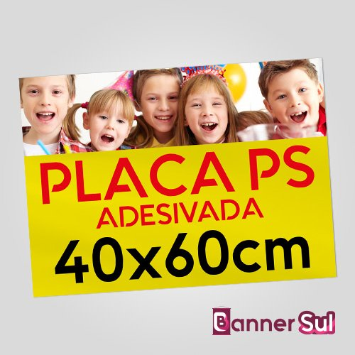 Placa Ps Adesivada 40x60cm