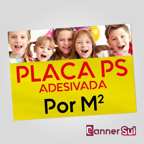 Placa Ps Adesivada Por M2