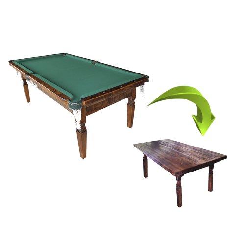 Sinuca X Mesa em madeira de demolição 1,90x1,10