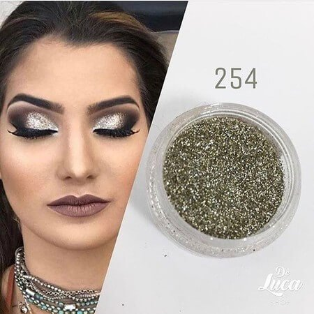 Bitarra Beauty COR 254 Prata Sombra Asa de Borboleta (Pigmento / Glitter)