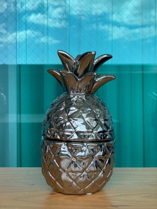 Abacaxi decorativo prata