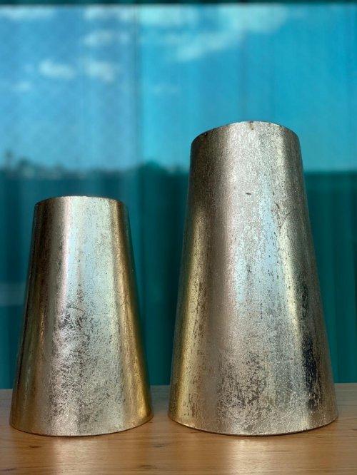 Dupla vasos dourado escovado