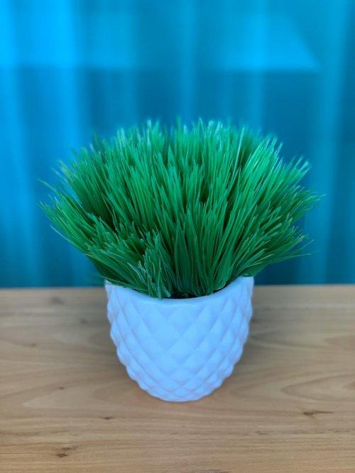 Vaso branco com pick agulha