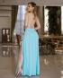 Miniatura - {Adele} Vestido Festa Longo Godê Tirinhas com Fenda Madrinha Formatura (cor Tiffany)