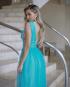 Miniatura - {Gabriela} Vestido Festa Longo Godê Rodado Tule Brilho Madrinha Formatura (cor Tiffany)