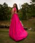 Miniatura - {Infinity} Vestido Festa Longo Princesa Rodado Várias Formas de Amarrar Madrinha Formatura (cor Rosa Pink)