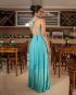Miniatura - {Infinity} Vestido Festa Longo Princesa Rodado Várias Formas de Amarrar Madrinha Formatura (cor Azul Tiffany)