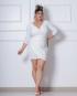 Miniatura - {Mayana} Vestido Curto Tubinho Transpassado em Lurex Noiva Casamento (cor Branco)