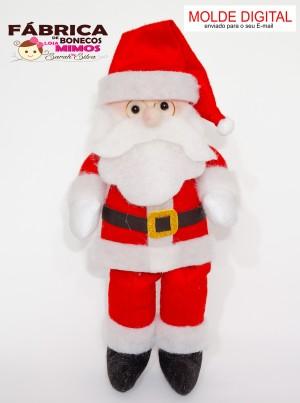 Molde Papai Noel De Feltro Com 35 Cm Em Pdf