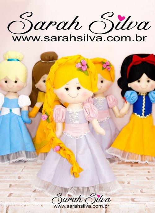 4 Moldes Princesas da Disney em PDF