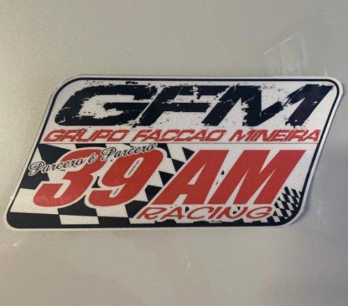 Adesivo GFM Para-brisa Carro - 25cm x 12cm