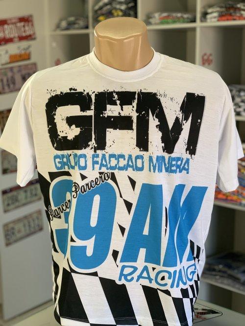 CAMISETA GFM TIPO BANDEIRA BRANCO/AZUL