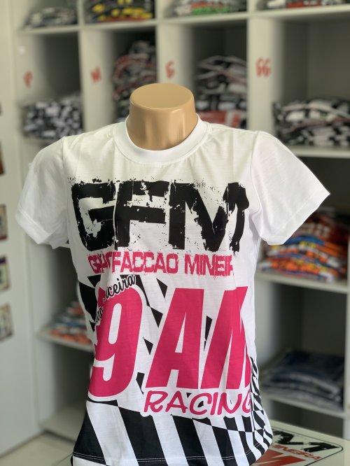 Camiseta GFM tipo bandeira feminino (baby look)