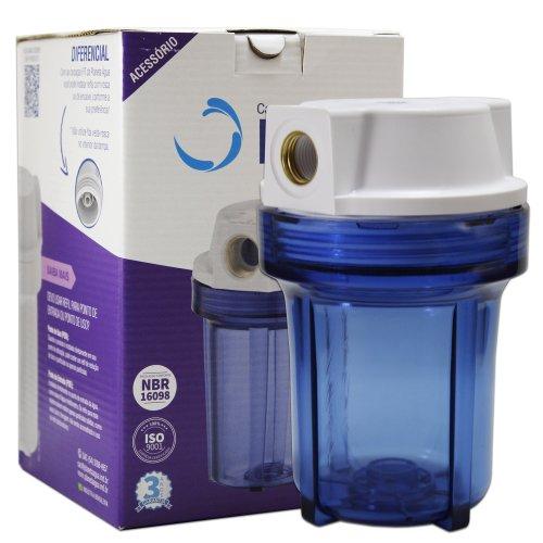 "Carcaça do Filtro Fit 5"" Azul Rosca 1/2 SEM ELEMENTO FILTRANTE - Planeta Água"