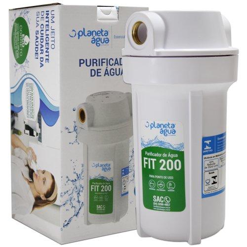 """Filtro Purificador de Água Fit 200 7"""" Rosca Metálica 1/2 COM ELEMENTO FILTRANTE"""