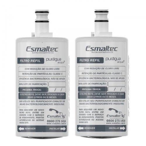 Kit 2 Refil Filtro Para Purificador De Água Purágua Acqua7 Esmaltec Original
