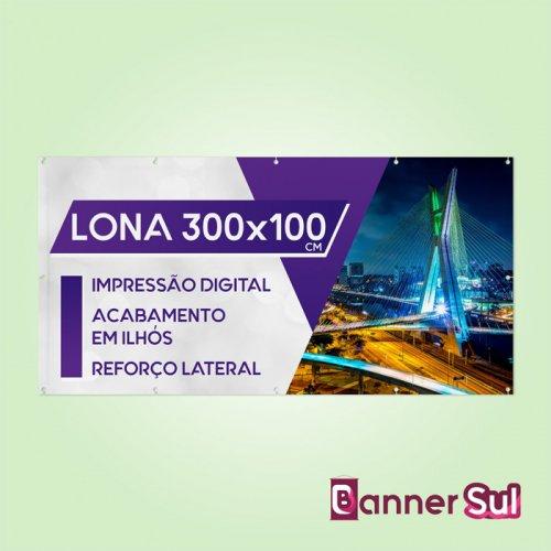 Lona Impressa 300x100cm