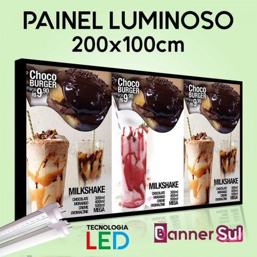Painel Luminoso Tecnologia LED - 200x100cm