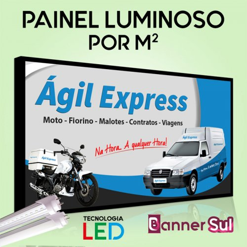 Painel Luminoso Tecnologia LED - Por Metro Quadrado