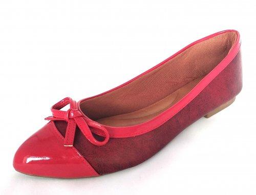 Sapatilha Bico Fino Vermelha VDT012