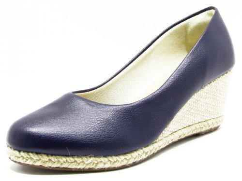 8728f370f Sapato Anabela Azul Indigo - 9512 - Cass - Bella Vitória Sapatilhas