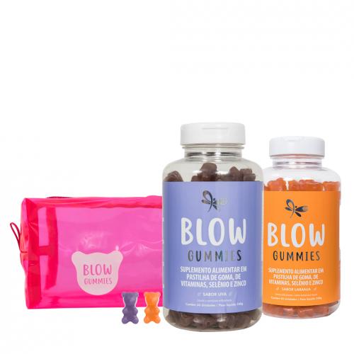 Blow Gummies 120 Dias de Tratamento Sabores Laranja Uva