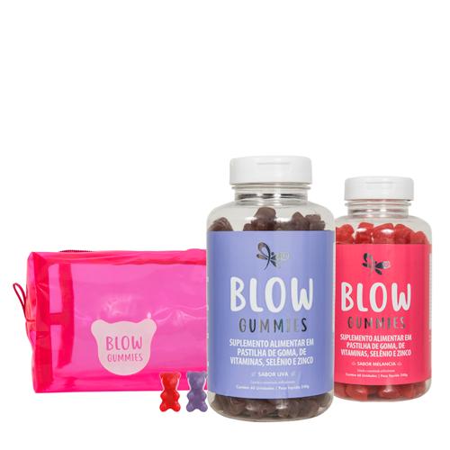 Blow Gummies 120 Dias de Tratamento Sabores Uva Melancia