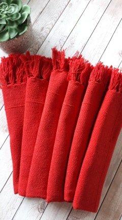 Kit de Guardanapos Vermelhos 6 peças