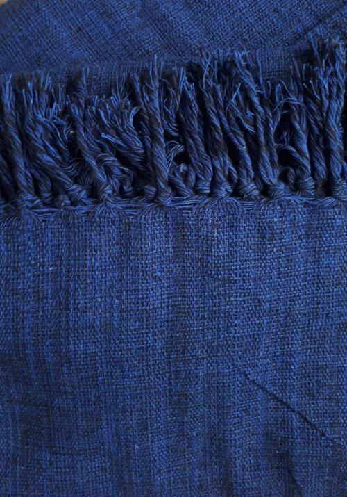 Manta de Sofá Solteiro Azul Caneta