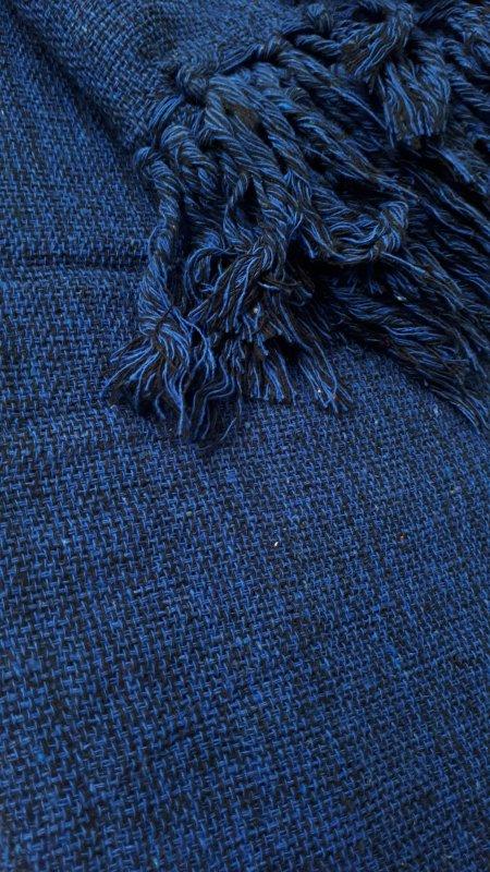 Manta de Sofá Casal Azul Caneta