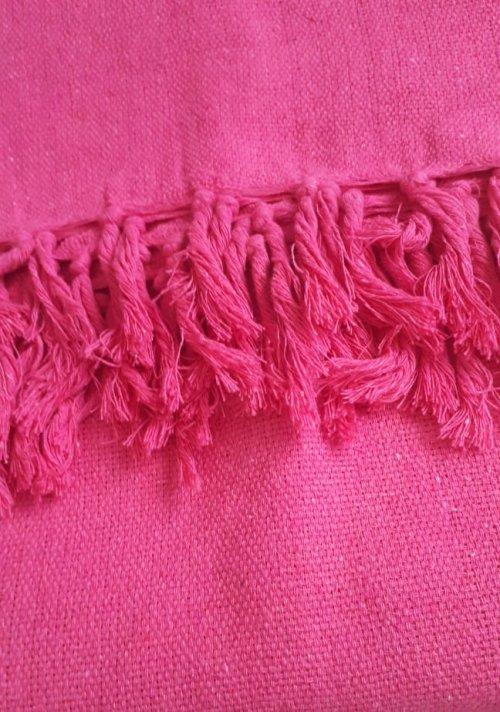 Manta de Sofá Solteiro Rosa Pink