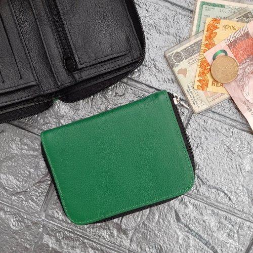 Carteira Masculina Case - Verde Bandeira com Preto