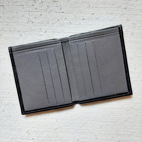 Carteira Masculina Compacta - Preto com Cimento