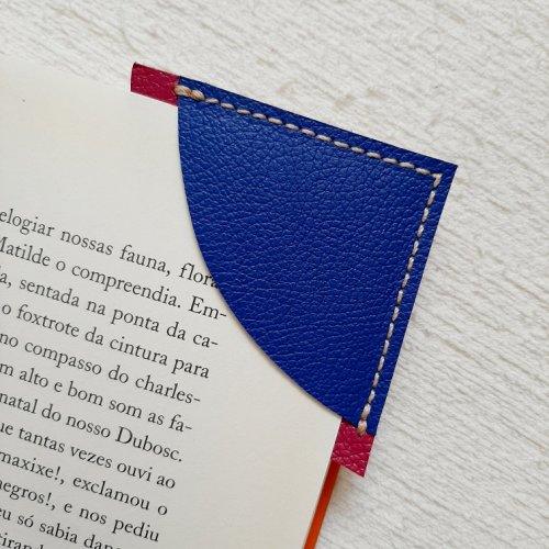Marcador de Páginas - Azul Royal com Magenta