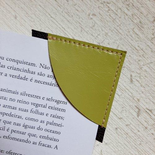 Marcador de Páginas - Verde Abacate com Roxo