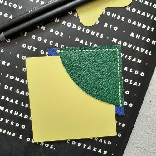 Marcador de Páginas - Verde Bandeira com Azul Royal