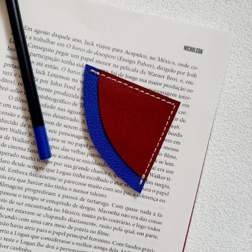 Marcador de Páginas - Vermelho com Azul Royal