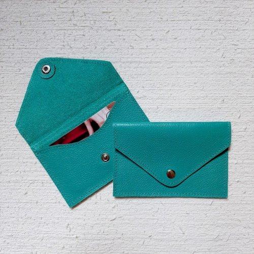 Porta Cartão Envelope - Azul Turquesa