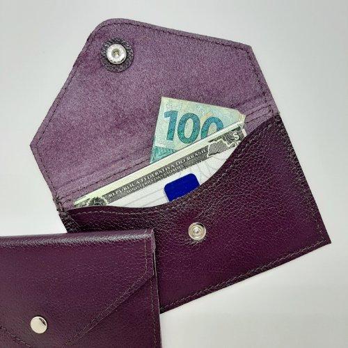 Porta Cartão Envelope - Roxo